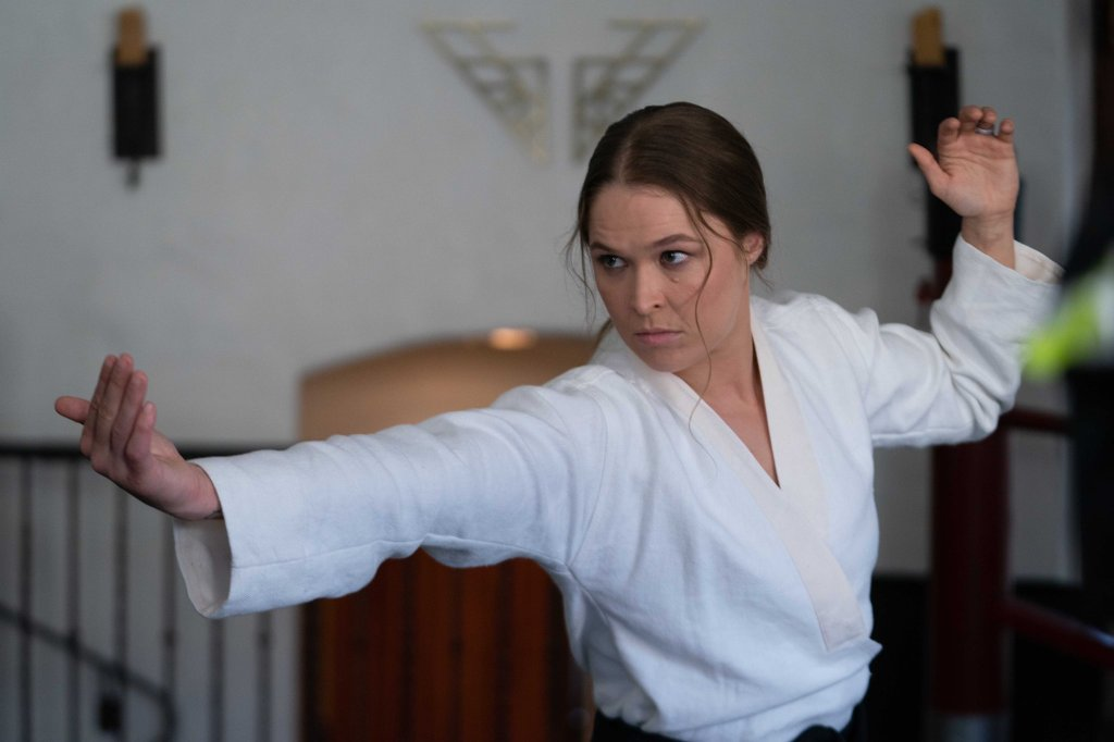 Ronda Rousey - on set of Charlie's Angels